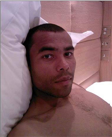 Posh Comforts Furious Cheryl Mobile ... image of Ashley Cole in hotel