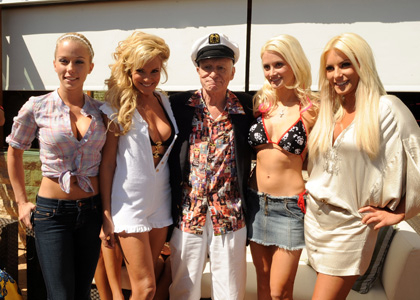 The Girls Next Door Hugh Hefner celebrates his 83d birthday