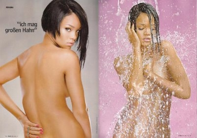 Rihanna Bares Her Breasts and Hips for GQ Rihanna Bares Her Breasts and Hips for GQ