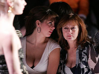 Susan Sarandon Nibbles Dessert with