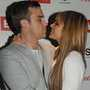 "She""s the one ... Robbie smooches with Ayda"
