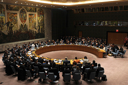 Russia led the UN security Council