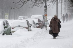 Frosts and snowfall hit Ukraine