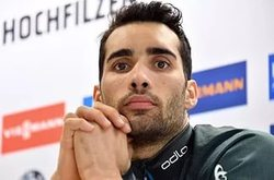 The fans are amazed by the antics of French biathlete Martin Fourcade