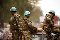 The UN peacekeepers assisted for sex