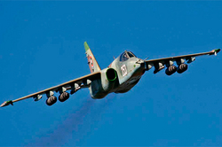 In Ukraine the plane crashed su-25