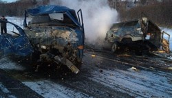 On the highway Yuzhno-Sakhalinsk - Okha was a terrible accident
