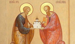 The Church celebrates the apostles Peter and Paul