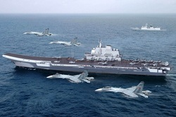 "China ushered in the Taiwan Strait, the aircraft carrier ""Liaoning"""