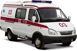 In Kamchatka, the driver of a foreign car has not missed the ambulance