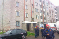 In Yaroslavl struck the facade of the residential building