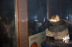 In Kazan have set fire to the pavilion fast-food