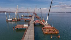 Crimean enterprises involved in the construction of a bridge across the Kerch Strait