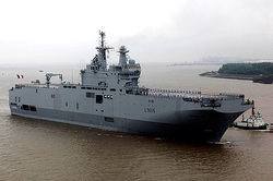 "France called the amount of liquidated damages for the ""Mistral"""