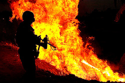 In the United States began to sell flamethrowers