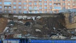 Vladivostok collapsed section of the highway