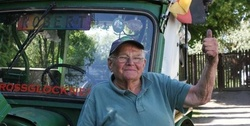81-year-old German will come to Russia on a rare tractor