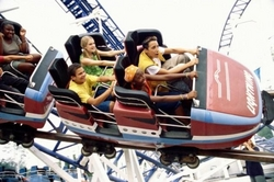 The children received an electric shock during a trip on the ride