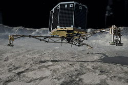 Robot Philae found on the comet traces of life