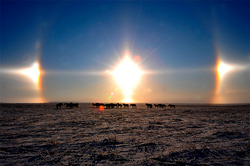 Scientists of the rising third of the sun above the Urals