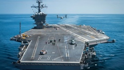 "The U.S. Navy sent the aircraft carrier ""Ronald Reagan"" on the Korean Peninsula"