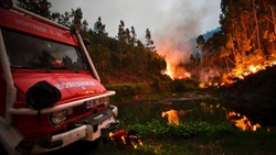 In Portugal raging the terrible forest fire
