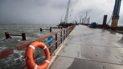 In the Kerch Strait started new stage of construction of bridge in Crimea
