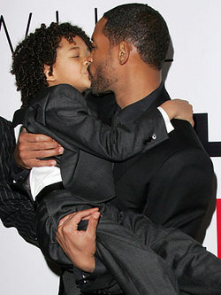 Will Smith gave his son tips on kissing onscreen