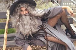 "Schoolgirl in dress ""sexy Gandalf"" became a star network (photo)"