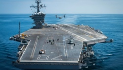 The US has deployed an aircraft carrier in the South China sea