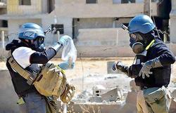 The United States recognized that the terrorists used in Syria chemical weapons