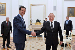 Assad thanked Russia for helping Syria