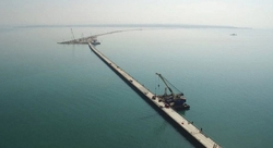 Installed the first marine abutment of the bridge across the Kerch Strait