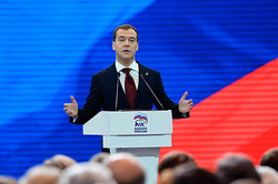 """United Russia"" on elections Medvedev will lead"
