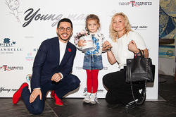 3-year-old daughter Kirkorov conquered the capital