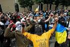 Spokesman: about 60 people at a rally near the Russian Embassy in Kiev