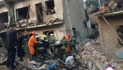In the Chinese residential complex, a powerful explosion