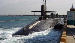 Submarine Michigan arrived in South Korea
