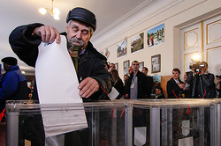 In the Ukraine culminated in elections in local governments