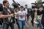 Savchenko arrived in the capital of Russia