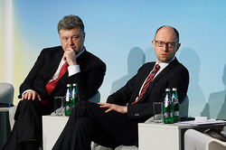 Poroshenko and Yatsenyuk traded mandates