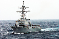 The U.S. sent a destroyer to the Islands of China