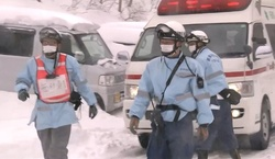 In Japan there are 8 students who got under an avalanche