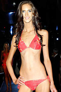 Anorexic model refuses to acknowledge she is too skinny for general public