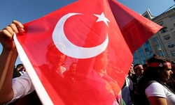 In Turkey held protests against the presence of troops in the country, NATO