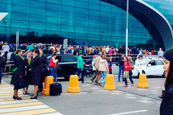 At the entrance to Domodedovo there was a stampede