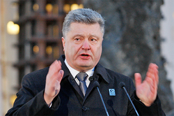Poroshenko reminded himself, taking advantage of the terrorist attacks in Paris
