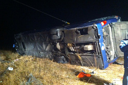 Near Voronezh overturned bus