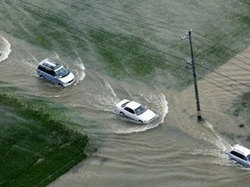 Japan has suffered from flooding