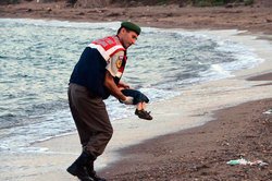 A refugee on the tragedy of the drowned son